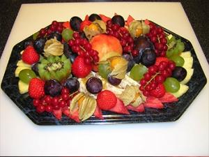 Obstplatte Plattenservice
